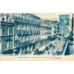 carte postale ancienne 44 SAINT-NAZAIRE. Rue Ville-es-Martin Hôtel de Bretagne 1927