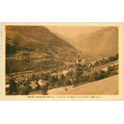 carte postale ancienne 38 ALLEMONT. Quartier Eglise et Taillefer 1938
