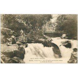 carte postale ancienne 38 ALLEVARD-LES-BAINS. Le Bout du Monde animation 1923