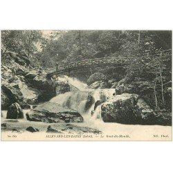 carte postale ancienne 38 ALLEVARD-LES-BAINS. Le Bout du Monde animé 1925