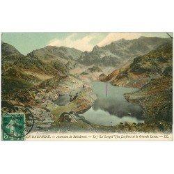 carte postale ancienne 38 BELLEDONNE. La Longet, Lozières et Grande Lance 1912