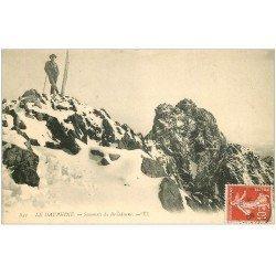carte postale ancienne 38 BELLEDONNE. Randonneur au Sommet 1908