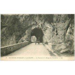 carte postale ancienne 38 BOURG D'OISANS. Tunnel Rampe des Commères