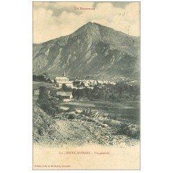 carte postale ancienne 38 BOURG D'OISANS. Vue générale 1911