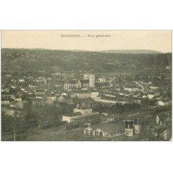 carte postale ancienne 38 BOURGOIN. La Gare et Châteaux d'Eau