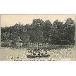 carte postale ancienne 38 CAMP DE CHAMBARAN. Etang du Chalet 1915