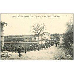 carte postale ancienne 38 CAMP DE CHAMBARAN. Régiment d'Infanterie