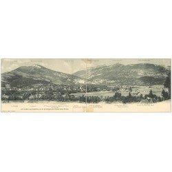 carte postale ancienne 38 Carte Double Panoramique 1907. Vallée des Echelles (petite restauration)...