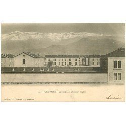 carte postale ancienne 38 GRENOBLE. Caserne Chasseurs Alpins 1903