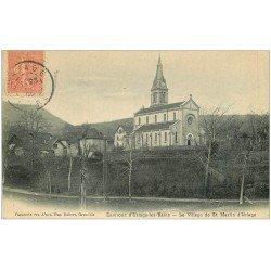 carte postale ancienne 38 SAINT-MARTIN-D'URIAGE. Le Village 1905