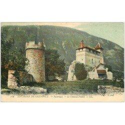 carte postale ancienne 38 SASSENAGE. Château Féodal