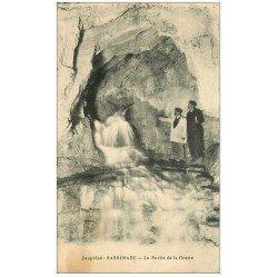 carte postale ancienne 38 SASSENAGE. Cuves Sortie De la Grotte