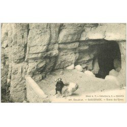 carte postale ancienne 38 SASSENAGE. Les Cuves Entrée 1914 n° 531