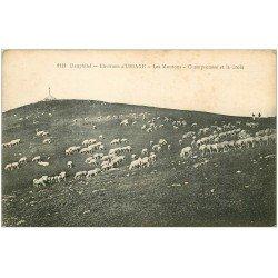 carte postale ancienne 38 URIAGE. Moutons, Champrousse et la Croix