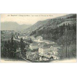 carte postale ancienne 38 URIAGE-LES-BAINS. Hôtels Avenue de Vizille