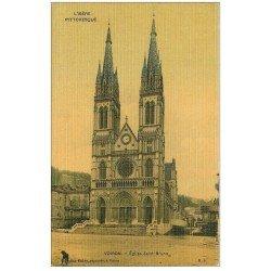carte postale ancienne 38 VOIRON. Eglise Saint-Bruno. Carte toilée