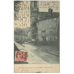 carte postale ancienne 38 VOIRON. Maison Fière 1904. Inondations de 1897
