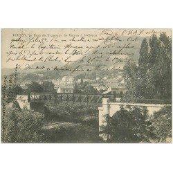carte postale ancienne 38 VOIRON. Pont du Tramway 1904