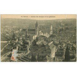 carte postale ancienne 38 VOIRON. Usines des Gorges 1913
