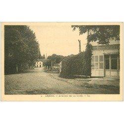 carte postale ancienne 39 ARBOIS. Avenue de la Gare 1936