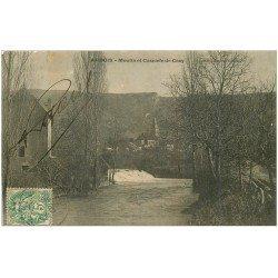 carte postale ancienne 39 ARBOIS. Moulin Cascade Cézy 1907