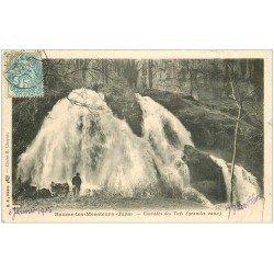 carte postale ancienne 39 BAUME-LES-MESSIEURS. Cascades des Tufs 1905