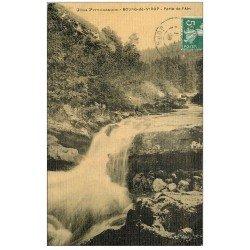 carte postale ancienne 39 BOURG-DE-SIROD. Perte de l'Ain 1908 carte toilée