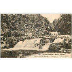 carte postale ancienne 39 BOURG-DE-SIROD. Perte de l'Ain et Cascade