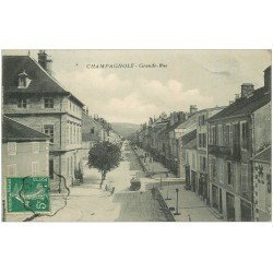 carte postale ancienne 39 CHAMPAGNOLE. Grande Rue 1910