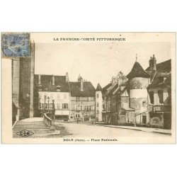 carte postale ancienne 39 DOLE. Place Nationale 1929