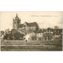 carte postale ancienne 39 DOLE. Vue du Port