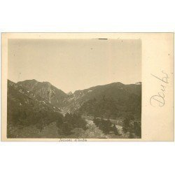 carte postale ancienne 39 GORGES D'ENFER. Carte Photo rare