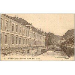 carte postale ancienne 39 MOREZ. La Bienne et Quai Jobez
