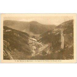 carte postale ancienne 39 MOREZ. Ligne et Viaduc Chemin de fer