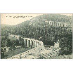 carte postale ancienne 39 MOREZ. Train Viaduc des Grottes