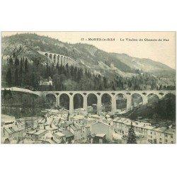 carte postale ancienne 39 MOREZ. Viaduc Chemin de Fer 1926