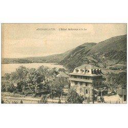 carte postale ancienne 73 AIGUEBELETTE. Hôtel Bellevue et Lac 1917