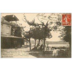carte postale ancienne 73 AIGUEBELETTE. Hôtel Pension Bellevue 1914