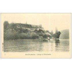 carte postale ancienne 73 AIX-LES-BAINS. Abbaye de Hautecombe avec Bateau à Roues