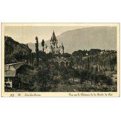 carte postale ancienne 73 AIX-LES-BAINS. Château Roche du Roi 1936