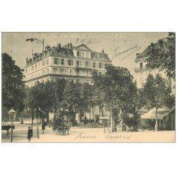 carte postale ancienne 73 AIX-LES-BAINS. Grand Hôtel d'Aix Place du Revard. Timbre 5 Centimes 1904