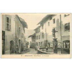 carte postale ancienne 73 ALBERTVILLE. CONFLANS. La Fontaine 1916