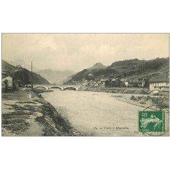 carte postale ancienne 73 ALBERTVILLE. Pont sur l'Arly 1912