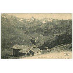 carte postale ancienne 73 BEAUFORTIN. Vallon Trécol et Pierre Menta