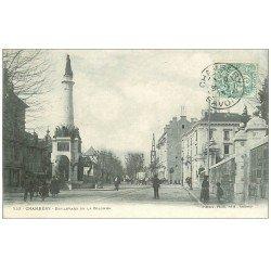 carte postale ancienne 73 CHAMBERY. Boulevard de la Colonne 1903