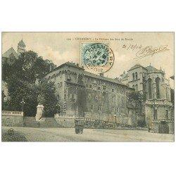 carte postale ancienne 73 CHAMBERY. Château des Duc de Savoie 1904 Vendeuse ambulante de glaces