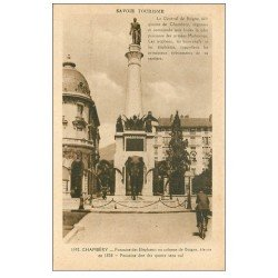carte postale ancienne 73 CHAMBERY. Colonne Boigne ou Fontaine Eléphants