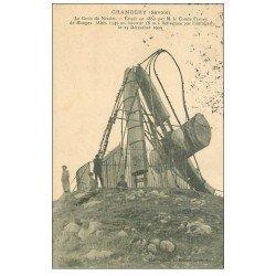 carte postale ancienne 73 CHAMBERY. Croix du Nivolet renversée par Ouragan 1910