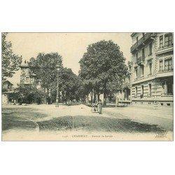 carte postale ancienne 73 CHAMBERY. Femme avec poussette Avenue de Savoie