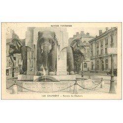 carte postale ancienne 73 CHAMBERY. Fontaine des Eléphants n°1428